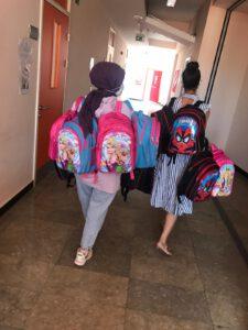 Beyoğlu Rehberlik ve araştırma merkezinde paketlediğimiz kırtasiye malzemelerimizi omuzlarımıza alarak, çocuklara teslim etmek üzere Beyoğlu Rehberlik Araştıma MErkezinden yola çıktık